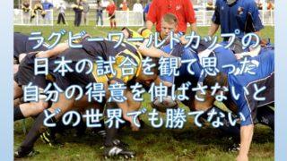 ラグビーワールドカップの日本代表の試合